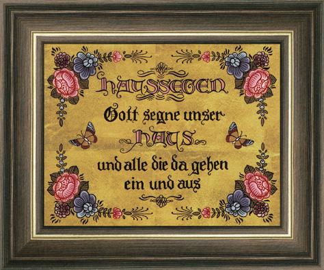 Haussegen – Blumenspruch G – Mariazeller Pilgershop
