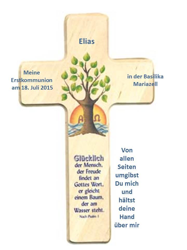 kreuz mit namen zur erstkommunion – motiv lebensbaum | mariazeller